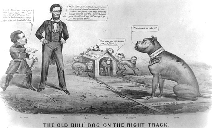 'The Old Bull Dog on the Right Track'