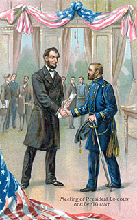 Meeting of Lincoln and Grant