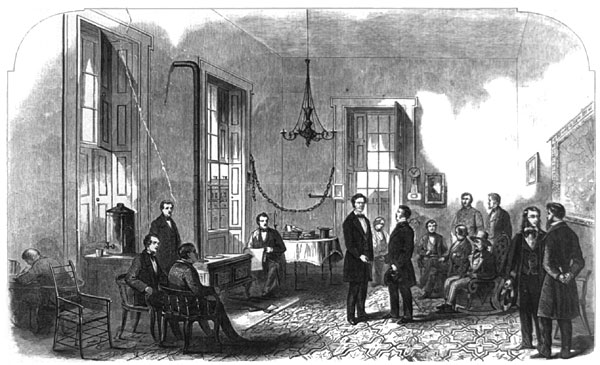 President-elect Lincoln Receiving Visitors
