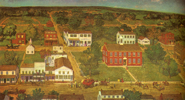 State House in Vandalia, The capital of Illinois from 1820 to 1839