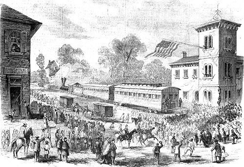 President's Arrival At The Station At Frederick