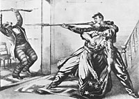 Murder of Colonel Ellsworth and the revenge killing of his assassin, James W. Jackson, by Corporal Francis E. Brownell of the New York Fire Zouaves.