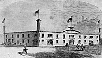 Republican Wigwam at Chicago in which Lincoln was nominated