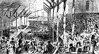 The Republican Convention of 1860 in the Chicago Wigwam