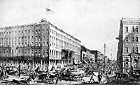 Tremont House, Chicago in 1860
