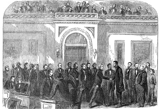 Abraham Lincoln Visiting the House of Representatives